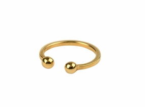 Strict Ball Ring, Gold