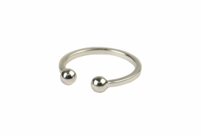 Strict Ball Ring, Silver