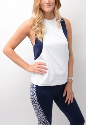 Ath Rosalie Tank Classic White & Peacoat