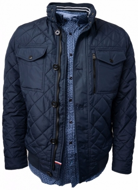 Diamond Quilted Bob Bomber Navy