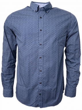 Micro Dotted Paisley Shirt Navy
