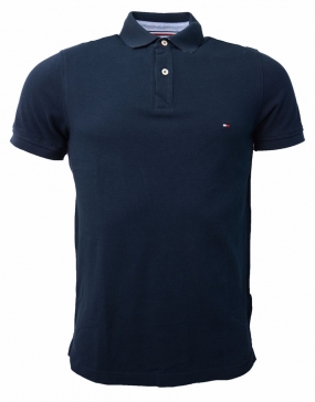 Tommy Jacquard Polo s/s Navy