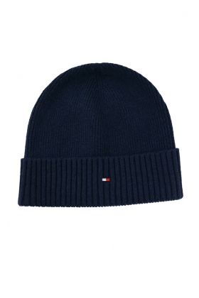 Pima Cotton Cashmere Beanie, Navy