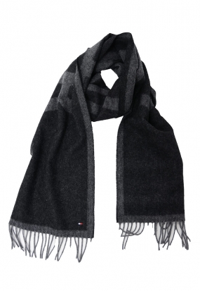 Hilfiger Jaquard Scarf, Charcoal Heather