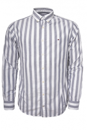 Engineered Striped Shirt, Maritime Blue