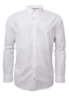 All Over H Printed Shirt, White