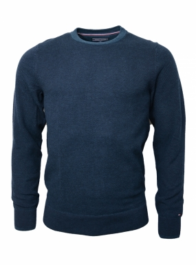 Textured Two Colour C-nk, Navy
