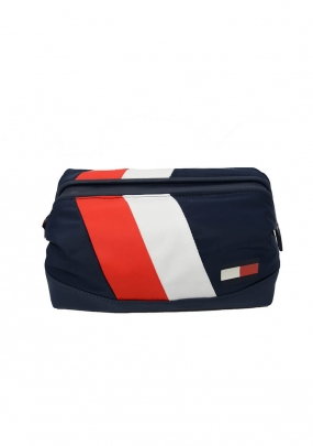 Tommy Chevron Framed Washbag, Multi