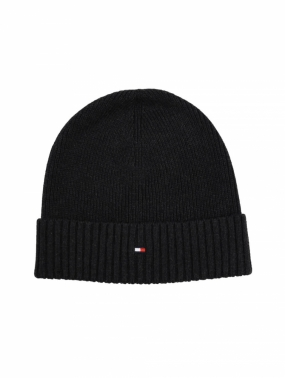 Pima Cotton Cashmere Beanie, Jet Black