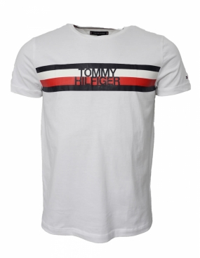 Tommy Logo Tee, Bright White