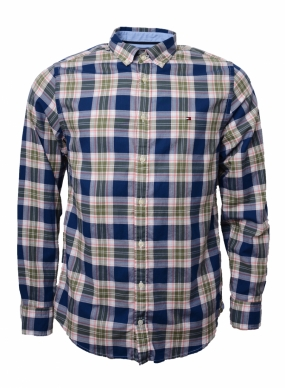 Zac Checked Shirt, Estate Blue & Multi