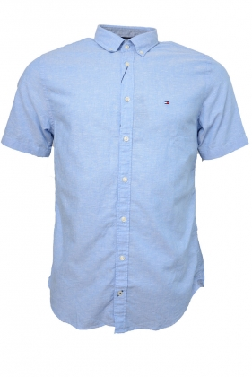 Cotton Linen Shirt s/s, Blue