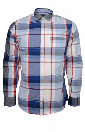 Striking Check Shirt, Sodalite Blue