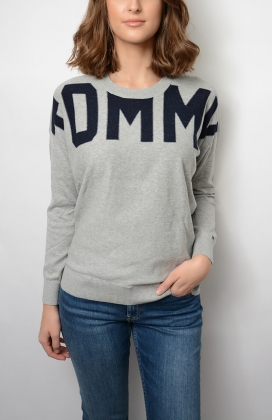 Vivie C-nk Sweater, Light Grey/Sky Captain