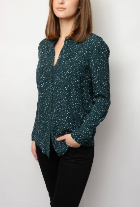 Lucia Shirt LS, Scatter Minimal/Ponderosa Pine