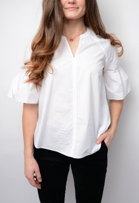 Marlene Blouse ss, Classic White