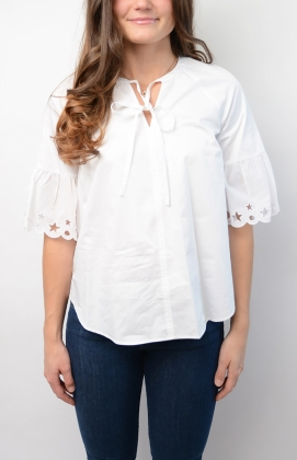 Hayette Blouse ss, Classic White
