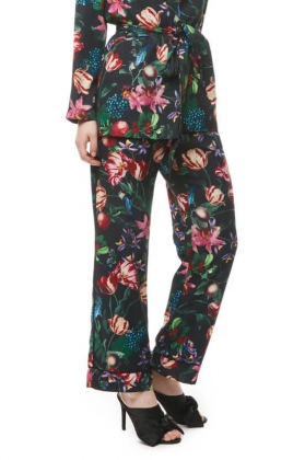 Edina Pants, Black Blossom