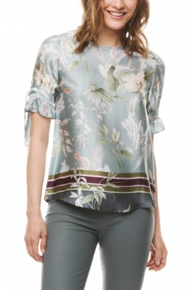 Nemy Blouse, Blue Jungle