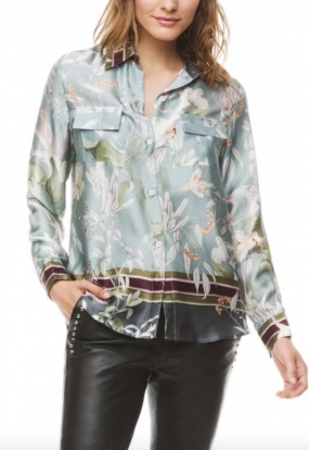 Nicolina Shirt, Blue Jungle