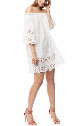Bella Dress, Cloudy White