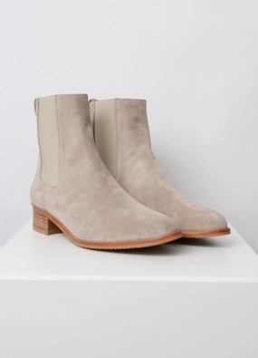 Lucile Boots, Sand Suede