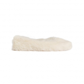 Nina Shoe, White Fur