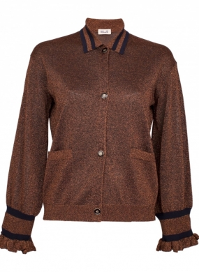 CARESSE CARDIGAN, COPPER