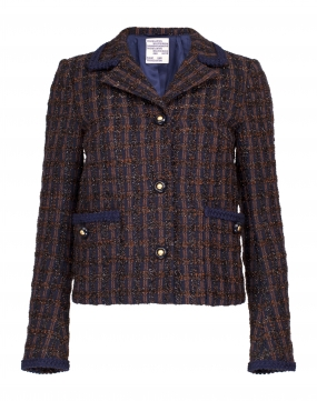 Briony Navy & Copper Boucle