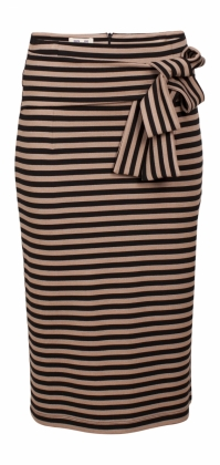 JALYN SKIRT, TAN/BLACK STRIPE