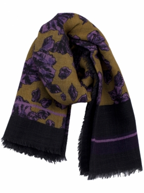 LOWELL SCARF, YELLOW ROSES