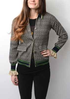 CHRISTIE CARDIGAN, GOLD CHECK