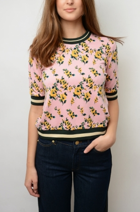 Jacomina Blouse, Pink Rose Puff