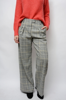 Nimmi Pants, Grey Prince Check