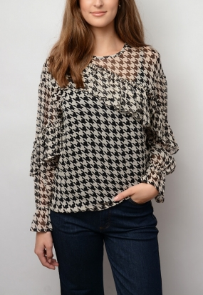 Merit Blouse, Sharp Houndstooth