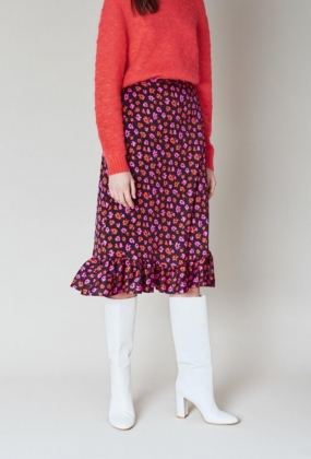 Selina Skirt, Vivid Flying Flowers
