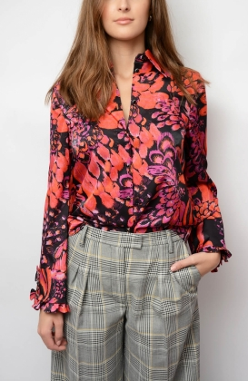 Mildred Shirt, Pink Feathersky