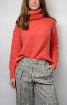 Cecil Sweater, Hibiscus Red
