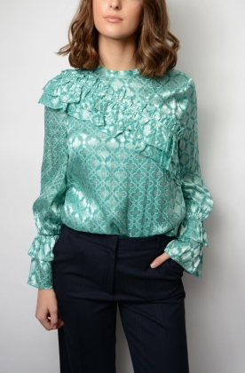 Moya Blouse, Canton Green