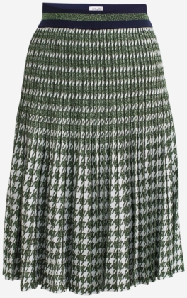 Cyrilla Skirt, Green Houndstooth