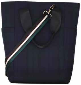 Kiara Bag, Green Blue Tartan
