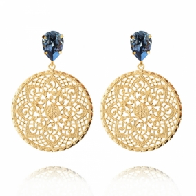 Alexandra Earrings, Denim Blue