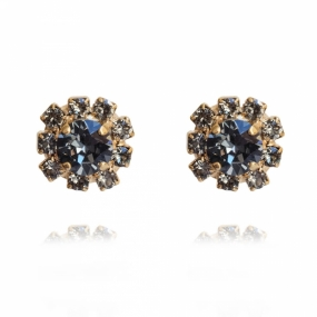 Aello Earring Gold, Black Diamond & Silvernight