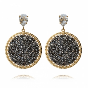 Alexandra Crystal Rocks Earrings, Gold & Metallic