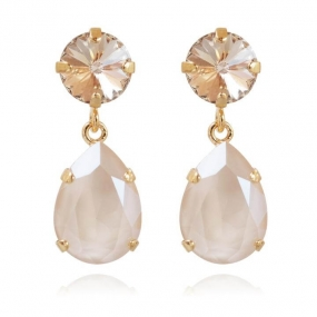 Classic Drop Earrings, Gold & Ivory Cream