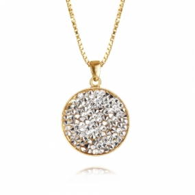 Chloe Necklace, Gold & Crystal