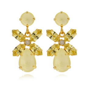 MINI DIONE EARRINGS GOLD, POWDER YELLOW