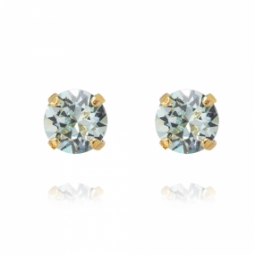 Classic Stud Earrings Gold, Light Azure