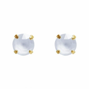 Classic Stud Earrings Gold, Powder Blue