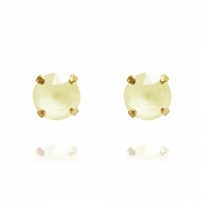 Classic Stud Earrings Gold, Powder Yellow